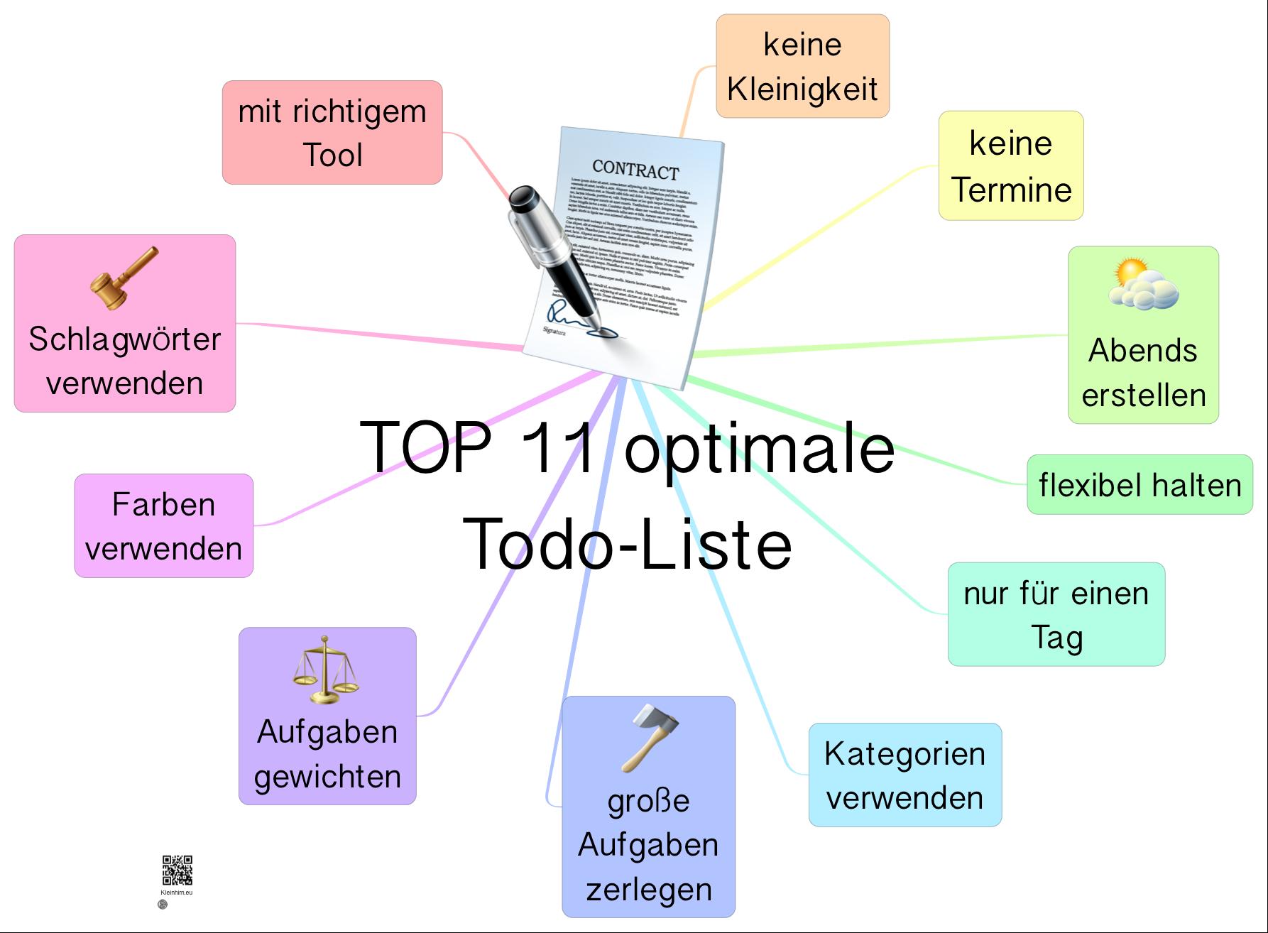 TOP 11 - optimale Todo-Listen von kleinhirn.eu